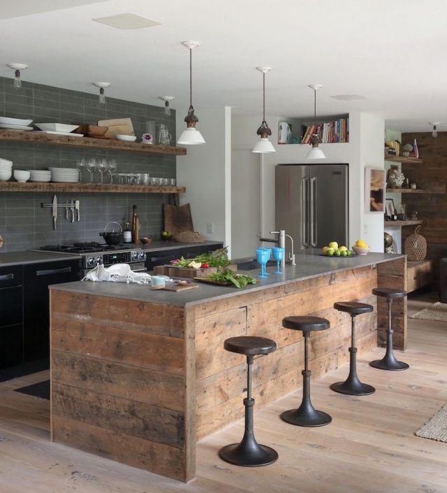 Tabouret de bar industriel- la vedette indiscutable dans la cuisine - küche selbst planen