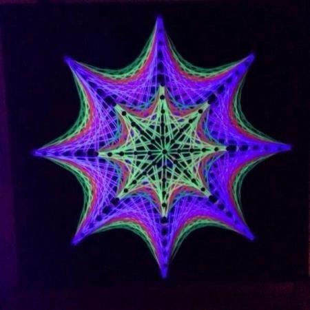 handgemachte uv string art goa deko | goa deko | pinterest, Hause und Garten
