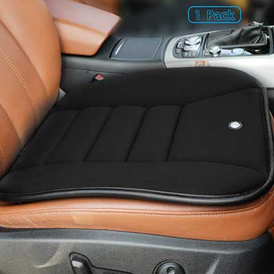 Car Seat Cushion with 1.2inch Comfort Memory Foam Car Seat Pad for Auto Car Supplies Office Chair by King Phenix Black