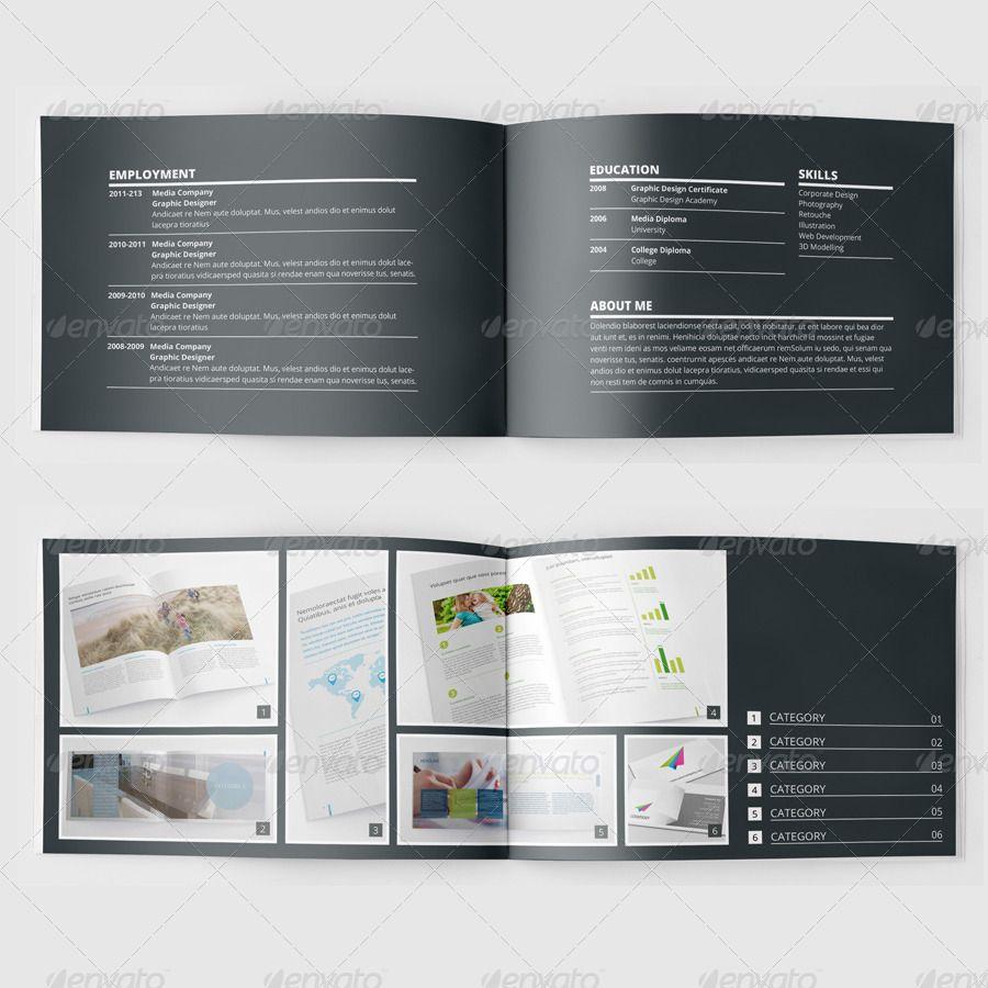 Stunning Portfolio Template For Indesign: Portfolio Booklet Or Catalog Template