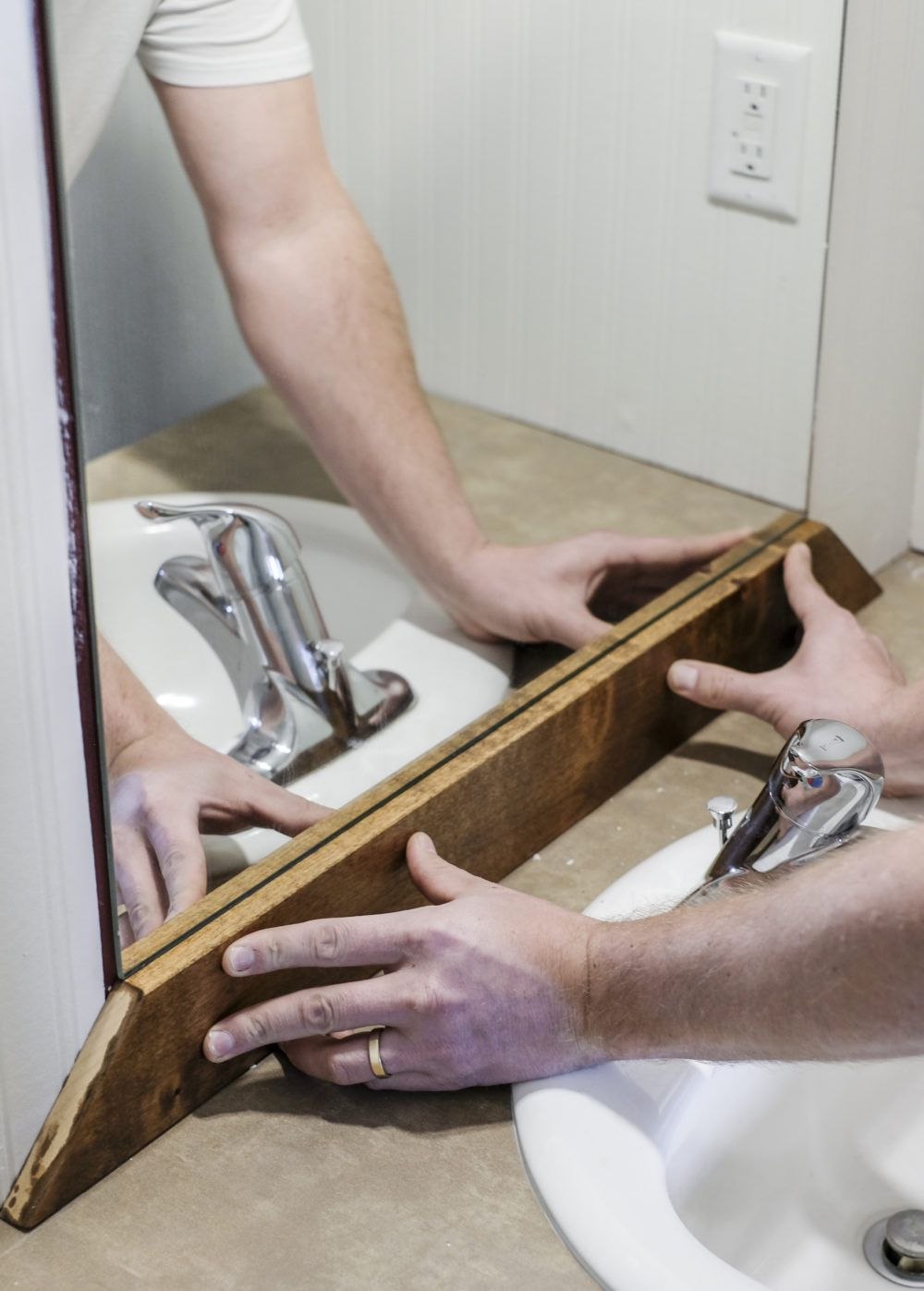 Photo of How to Add a DIY Wood Frame to a Bathroom Mirror