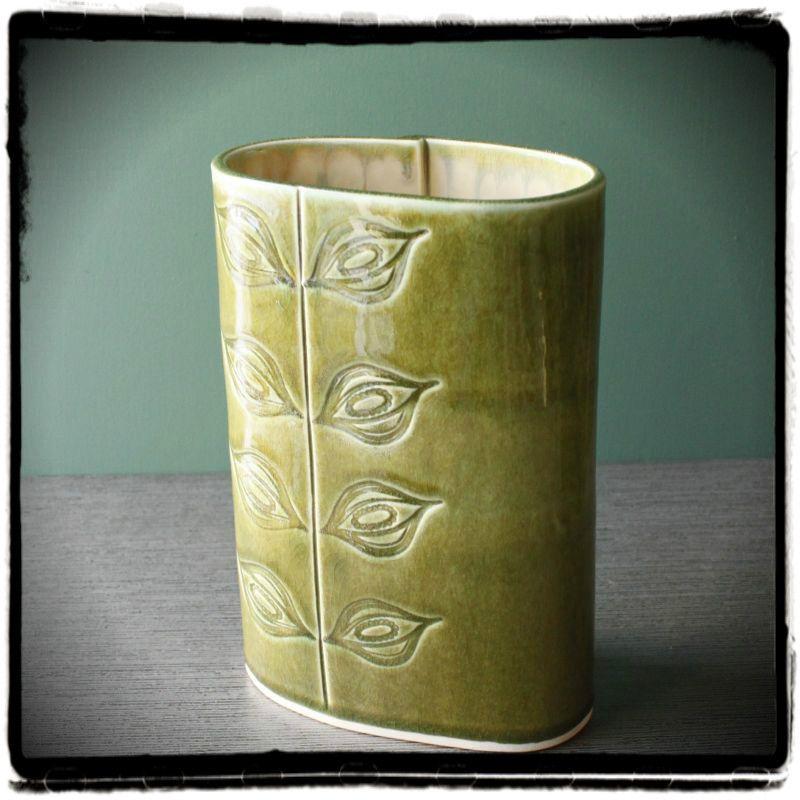 slab vase w/texture