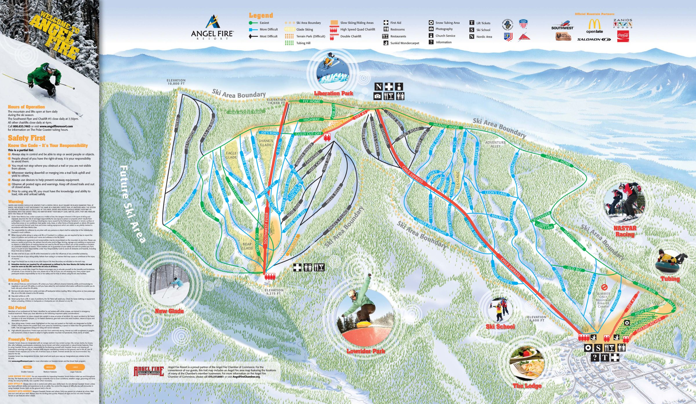 Angel Fire Resort Ski Trail Map Angel Fire New Mexico United