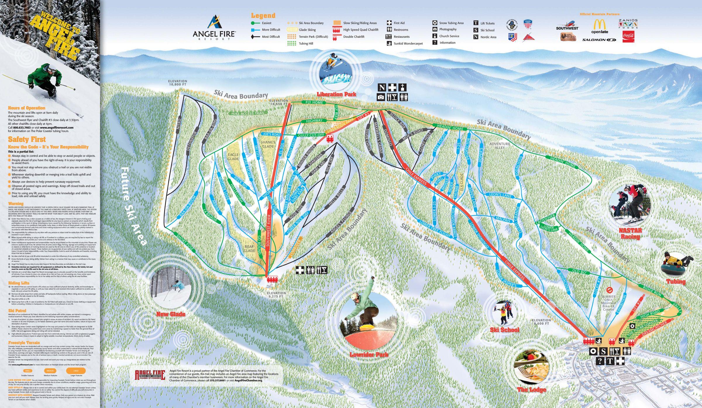 Angel Fire Resort Ski Trail Map - Angel Fire New Mexico United ...