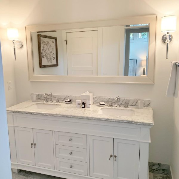 Classic Double Wide Mirror White At Pottery Barn In 2020
