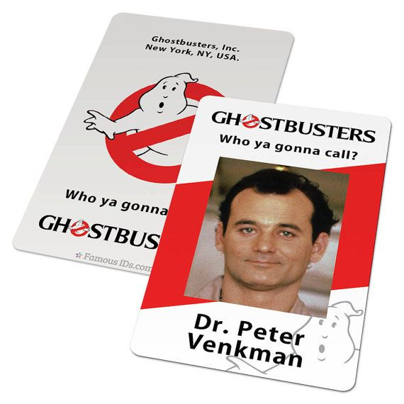 Custom Id Card Badge Ghostbusters Ghostbuster SciFi Cosplay