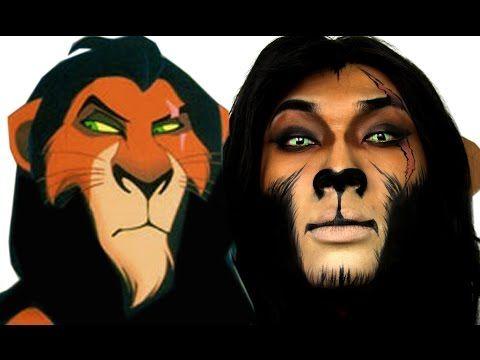 Scar Lion King Halloween Makeup Tutorial Theprinceofvanity Lion King Costume Scar Lion King Animal Makeup