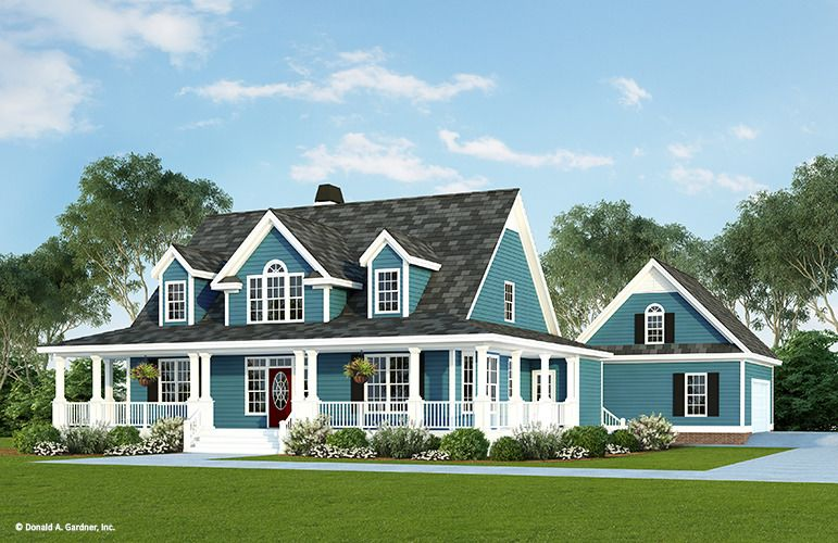 Home Plan The Azalea Crossing By Donald A Gardner Architects Farmhouse Style House Plans Farmhouse Style House House Plans Farmhouse
