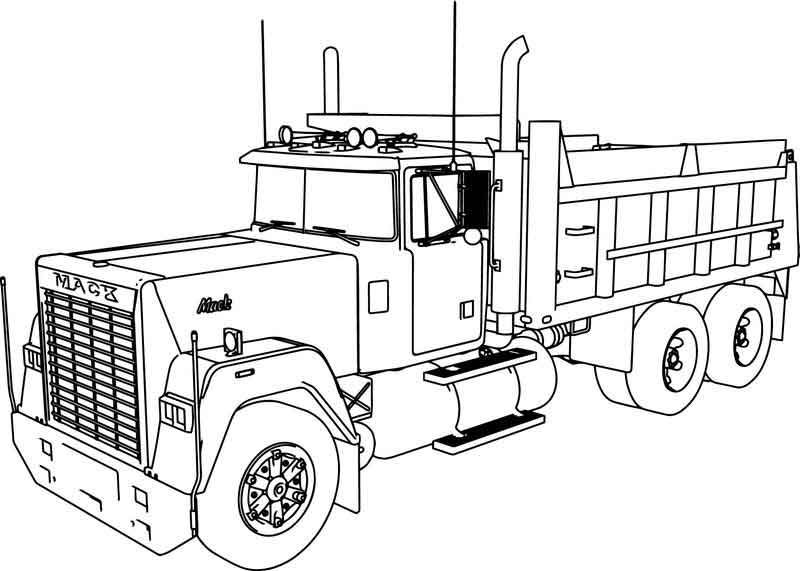 Mack Dumper Truck Coloring Page Truck Coloring Pages Tonka Truck Tractor Coloring Pages