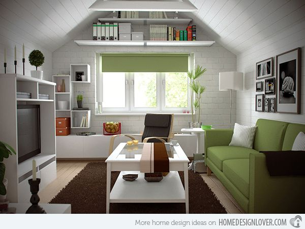 15 Well Designed Living Spaces In The Attic