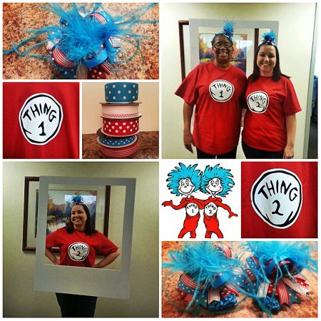 Thing 1 and Thing 2 costumes!