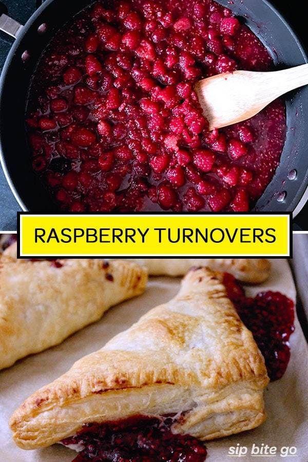 Fresh Raspberry Puff Pastry Turnovers | Sip Bite Go