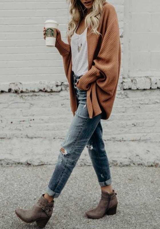 Gorgeous jeans outfit idea 5