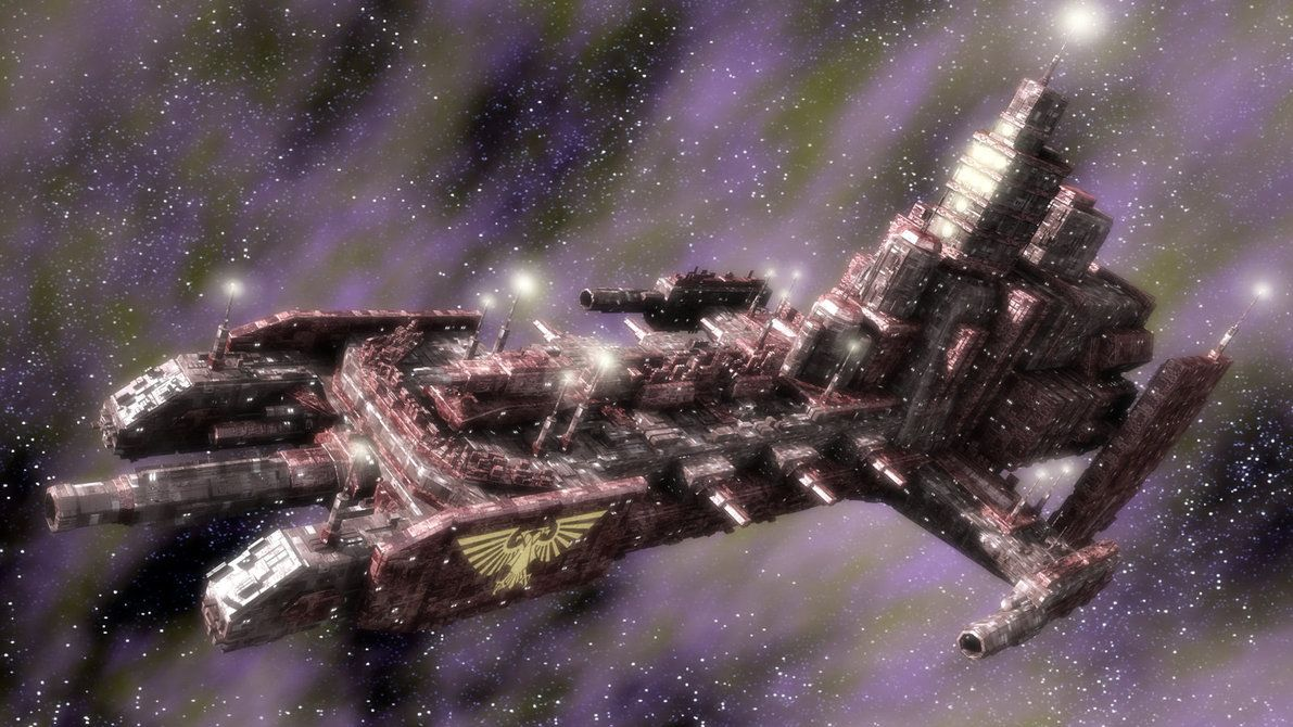 Space Marine Strike Cruiser Battlefleet Gothic Warhammer