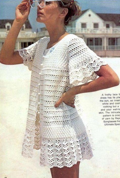 crochet summer dress and jacket for beach | örgülerim | Pinterest ...