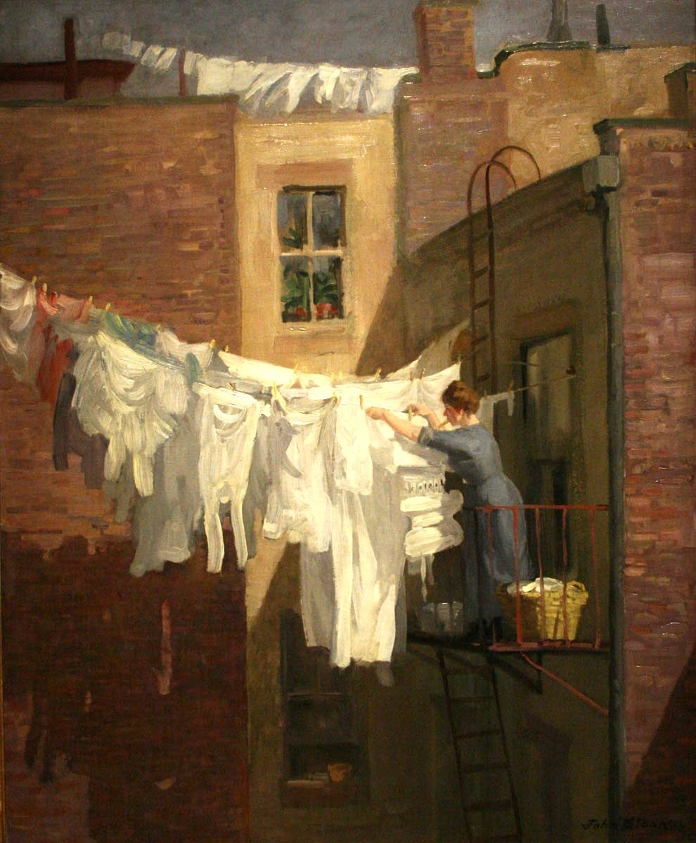 Woman' Work John Sloan Cleveland Museum Of Art Permanent Collection. Society