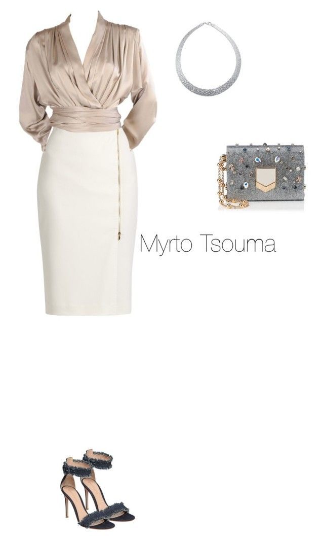 """New Year's Eve 2"" by myrtots ❤ liked on Polyvore featuring MaxMara, Yves Saint Laurent, Gianvito Rossi and Jimmy Choo"
