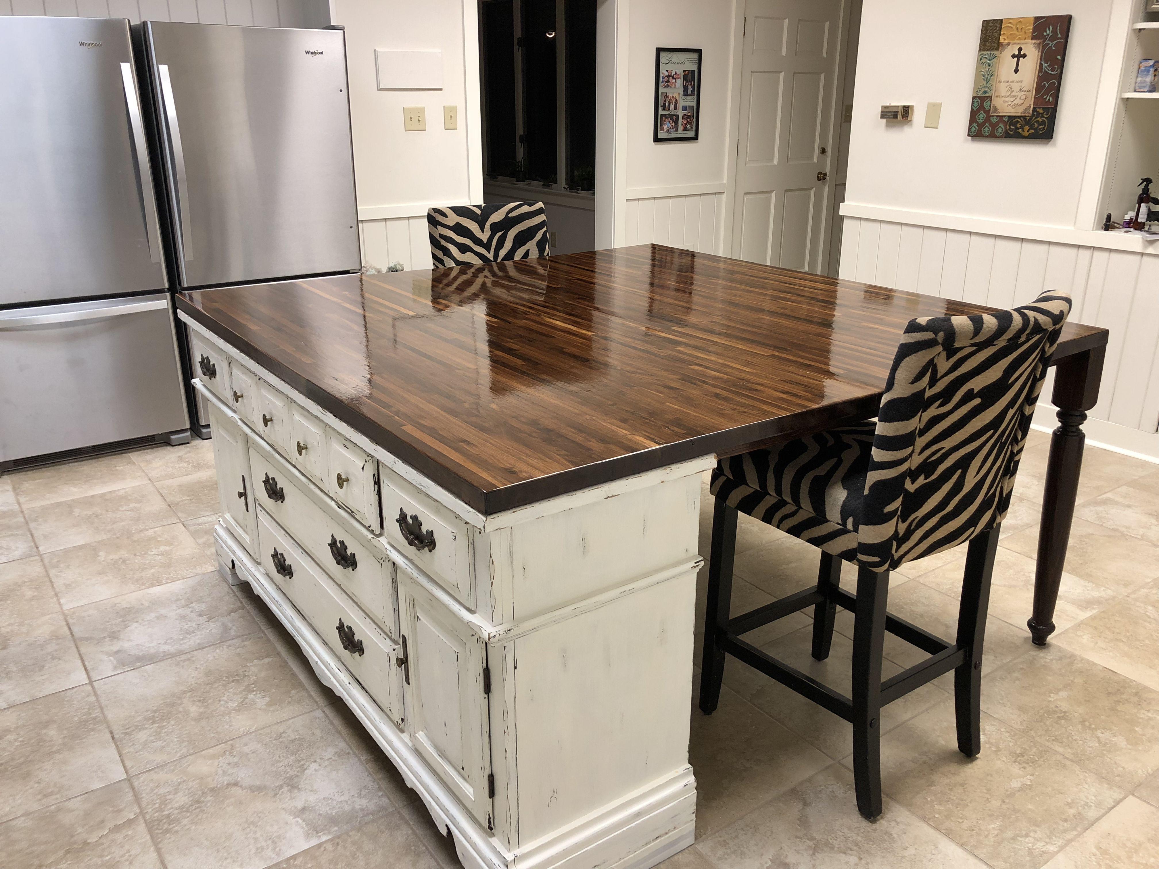 Old Dresser Turned Into Kitchen Island Kuchen Design Kucheninsel Kuchendesign