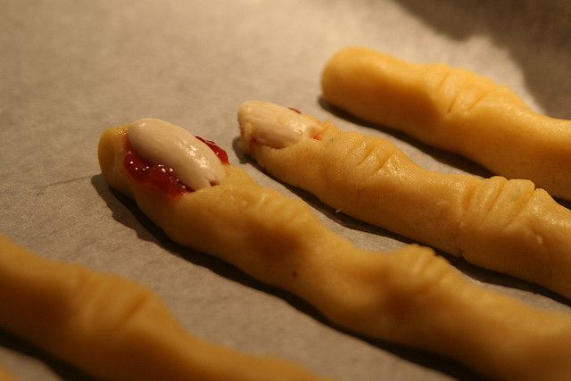 Scary finger cookies before being baked | Flickr - Photo Sharing!