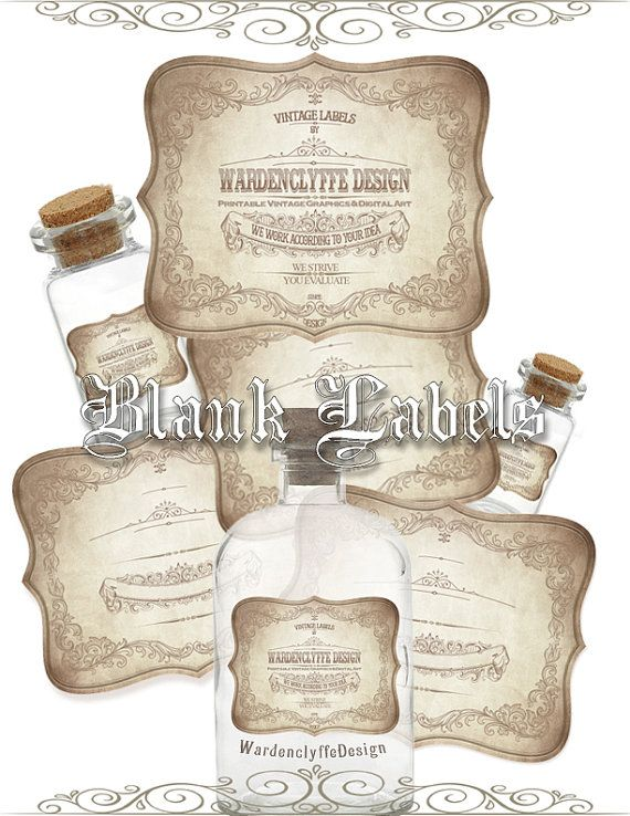 printable blank apothecary labels 3 x 2 5 vintage bottle jars