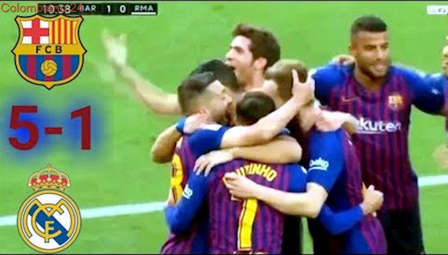 Barcelona vs Real Madrid 51 Resumen Goles Highlights 28