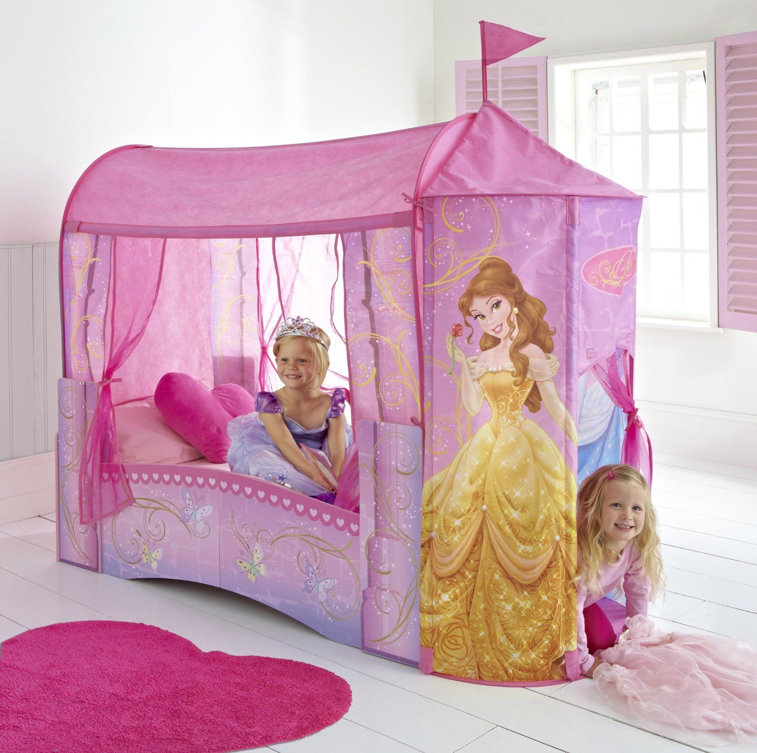 Disney Princess Toddler Bed By Hellohome Amazon Co Uk Toys Games Princess Toddler Bed Disney Princess Toddler Bed Disney Princess Bedding
