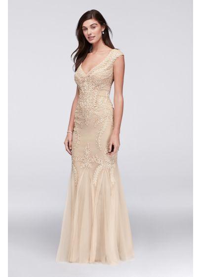 bc0cfd216 Long Mermaid/ Trumpet Cap Sleeves Formal Dresses Dress - Cachet ...
