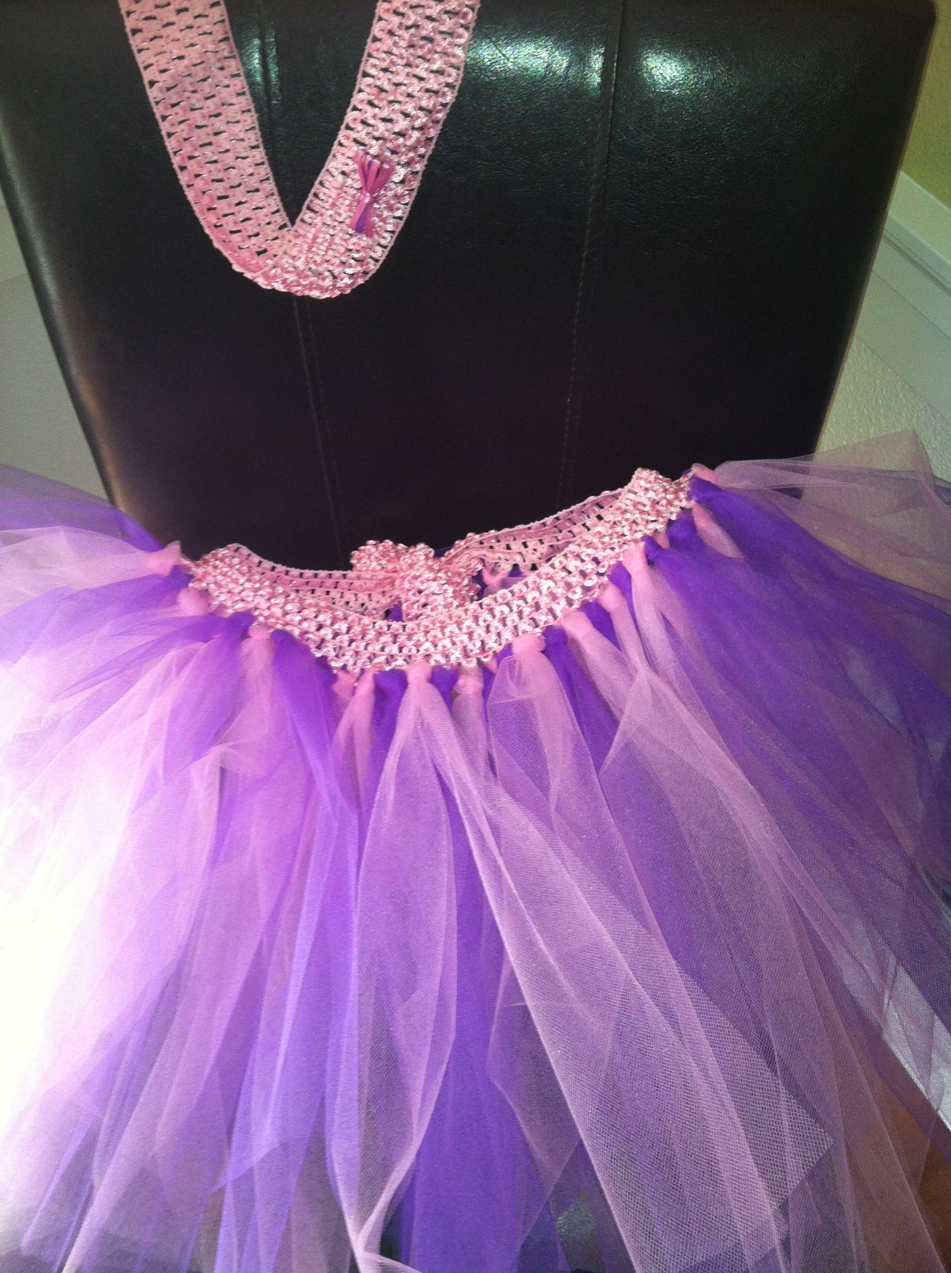 My year old made this for her friendus bday gift no sew tutu and