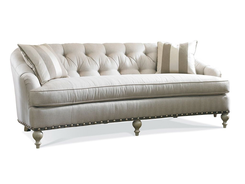 Exceptional Single Cushion Sofa 2 One Sherrill Furniture Tufted