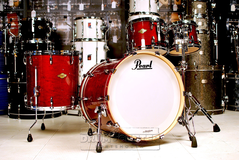 Pearl Mcx 4pc Drum Set 22 10 12 16 Vintage Wine Drums Drum Set Pearl Drums