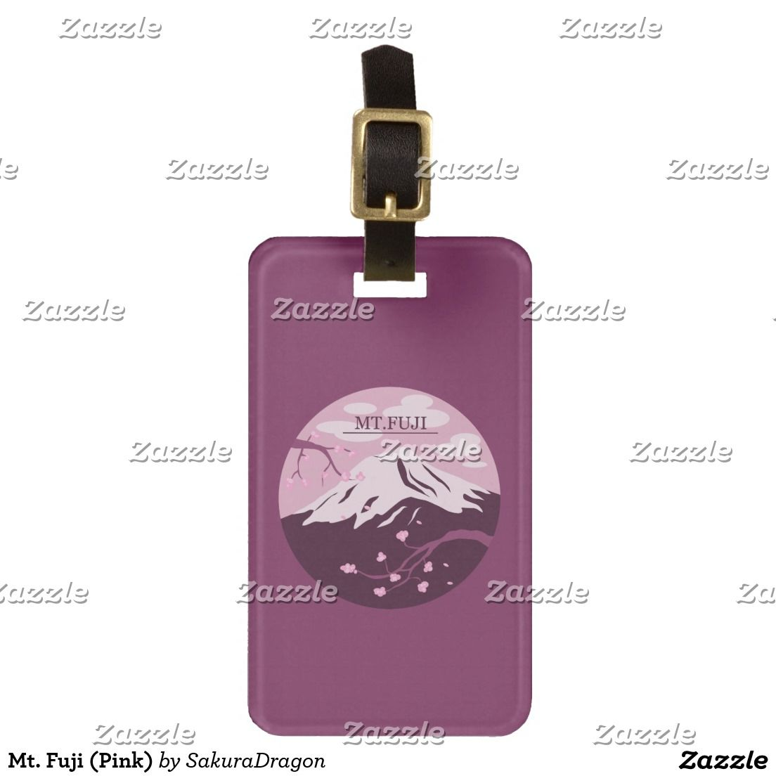 Mt. Fuji (Pink) Bag Tag #mtfuji #fuji #japan #sakura #cherryblossoms