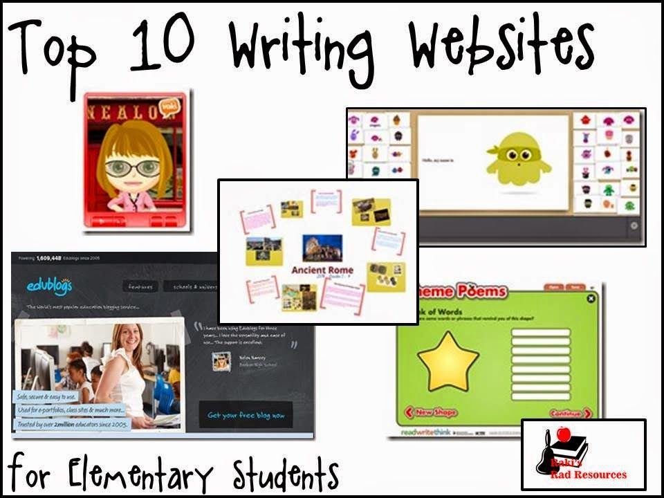 writing websites for teachers