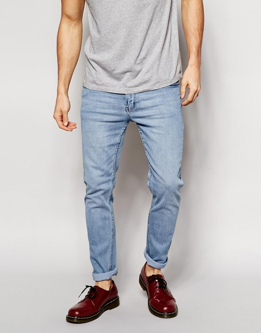Image 1 of Cheap Monday Tight Jeans Skinny Fit in Stonewash Blue