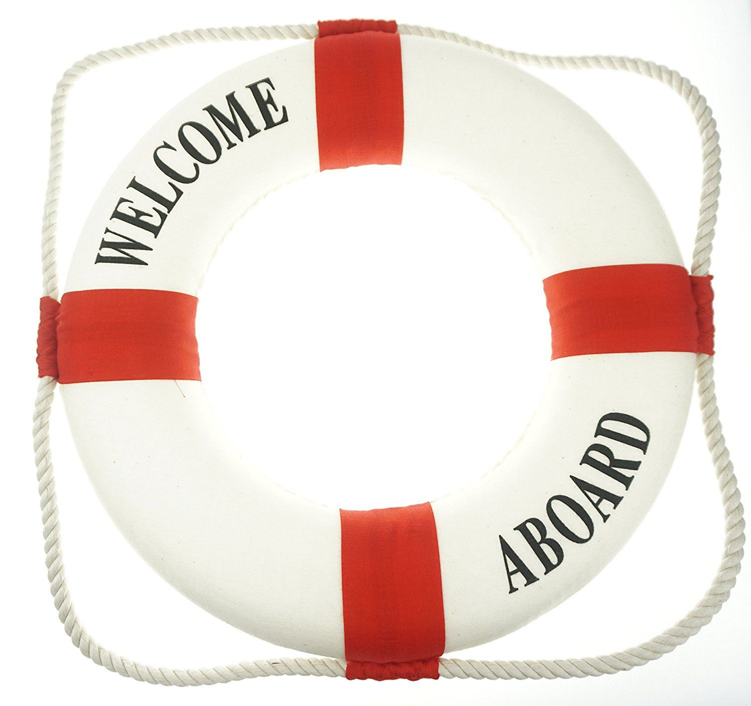 Welcome Aboard Life Preserver Decoration Nautical Baby Shower Decoration Unisex