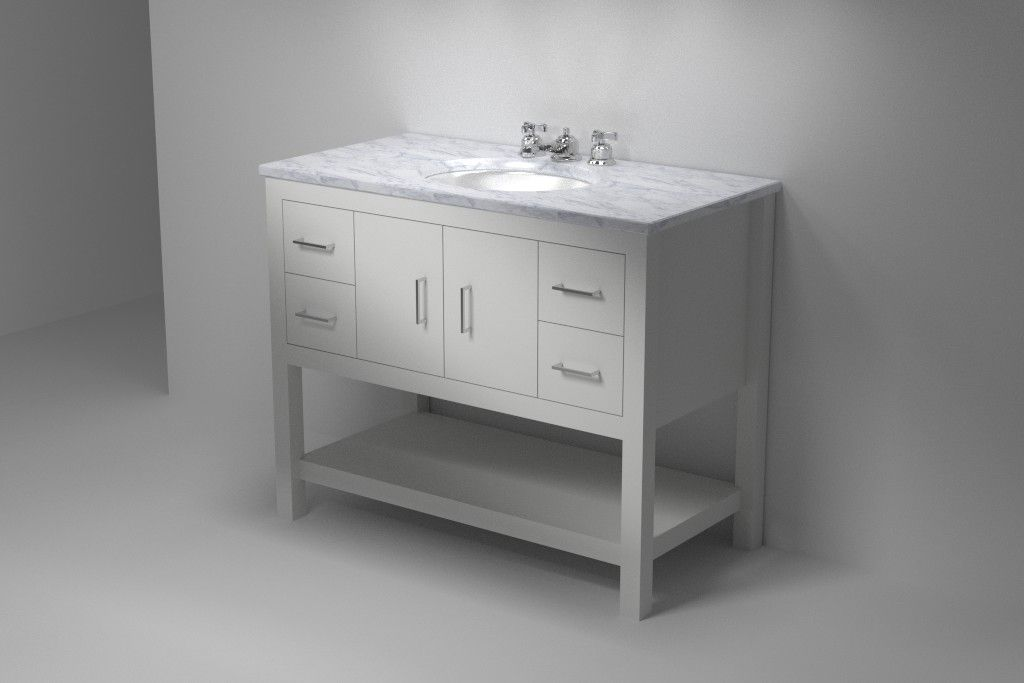 The Furniture Guild Downstairs Bathroom River Collection 42