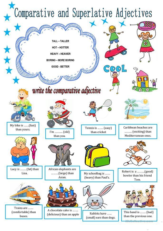 Comparative And Superlative Adjectives English Language
