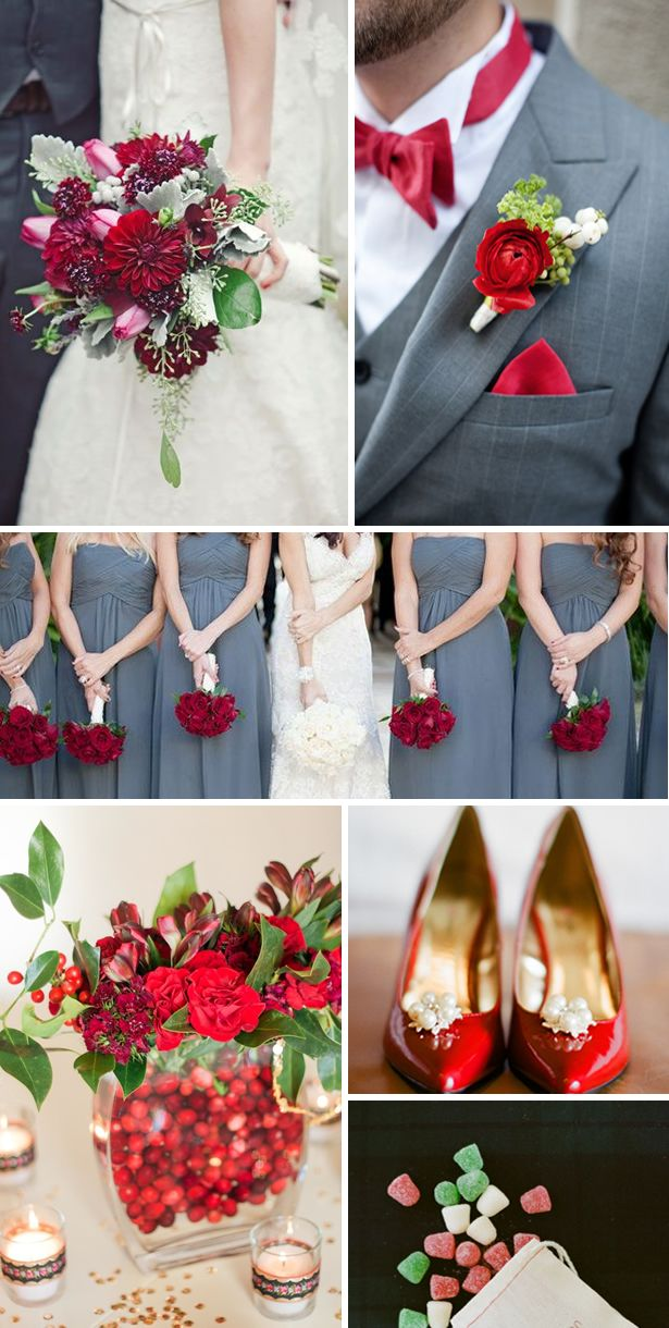 Christmas Wedding Ideas In Red | Tulle & Chantilly Wedding Blog