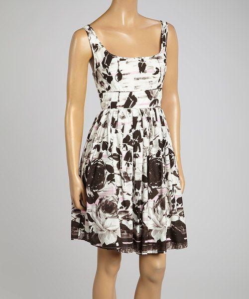 Look what I found on #zulily! Aryeh Pink & White Floral Surplice Dress - Women by Aryeh #zulilyfinds
