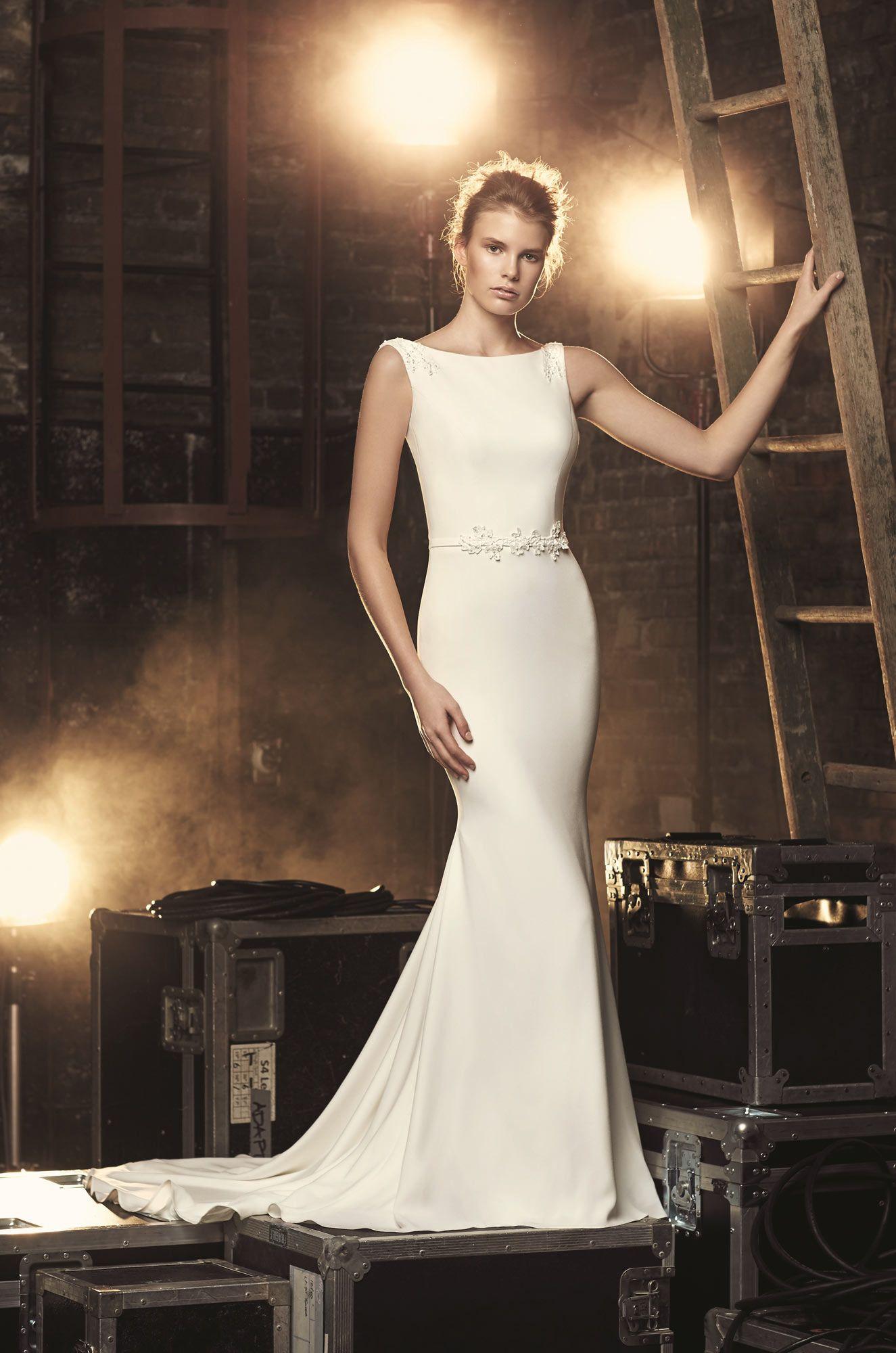 High Neck Crêpe Wedding Dress Style 2088 Wedding