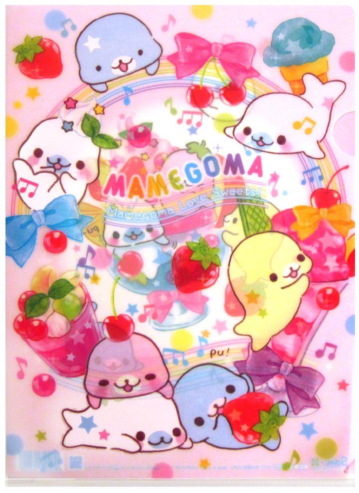 7f068d679 San-x Mamegoma Ice Cream Plastic File Folder..cute!!! | CUTE ...