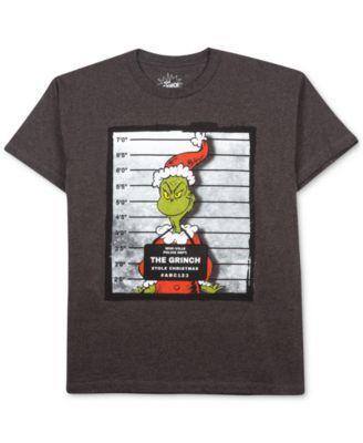 d64cb295 The Grinch Little Boys' Grinch Mugshot T-Shirt | macys.com | Kid's ...