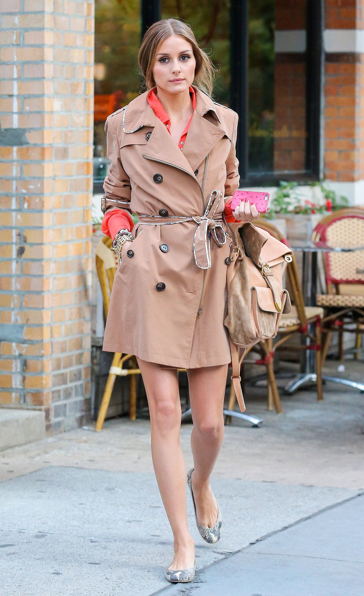 Olivia Palermo is effortless in her trench coat look.
