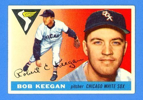 BOB KEEGAN 1955 TOPPS #10 - CHICAGO WHITE SOX - NO CREASES!!! GORGEOUS!!! #ChicagoWhiteSox