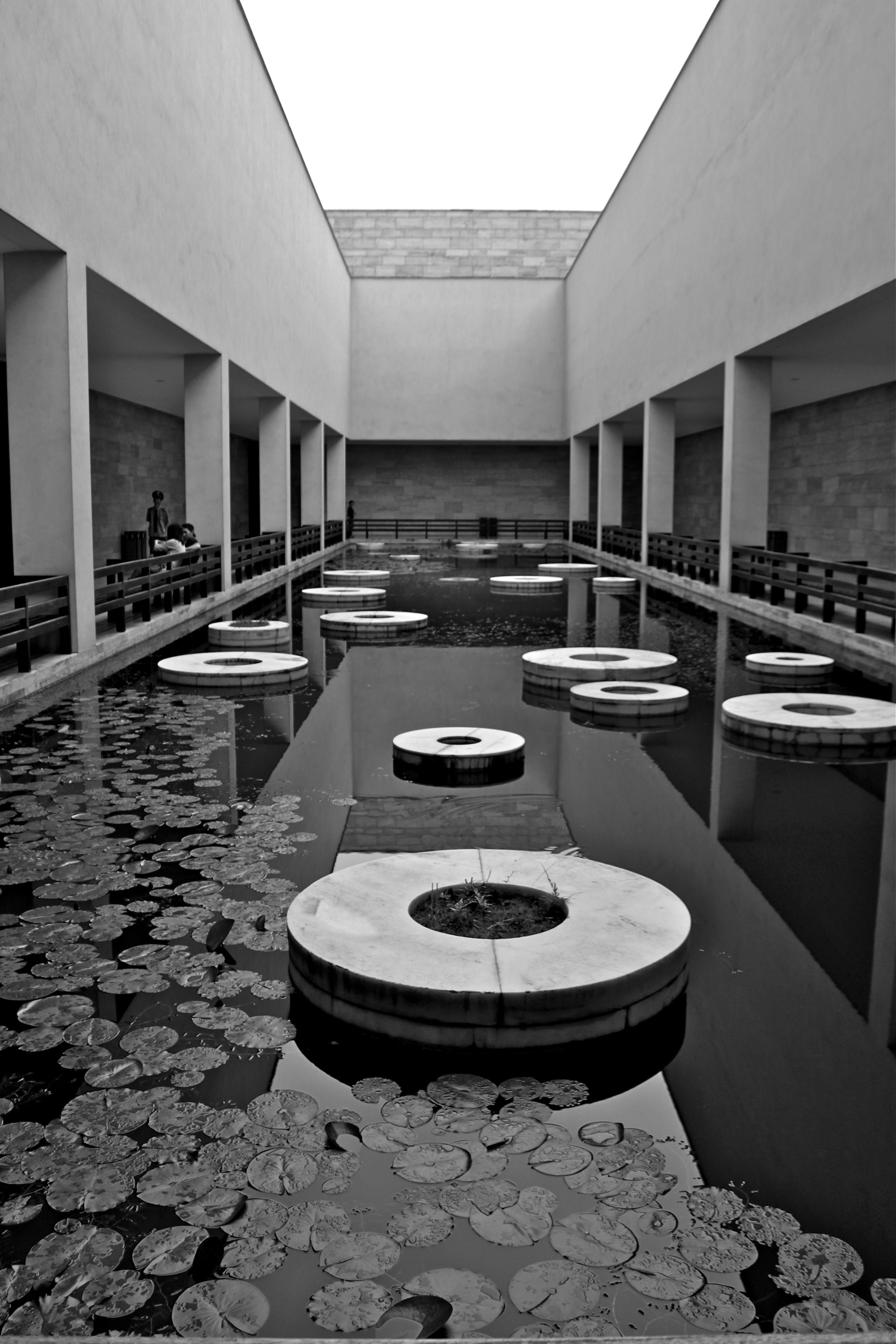 Courtyard of liangzhu cultural museum