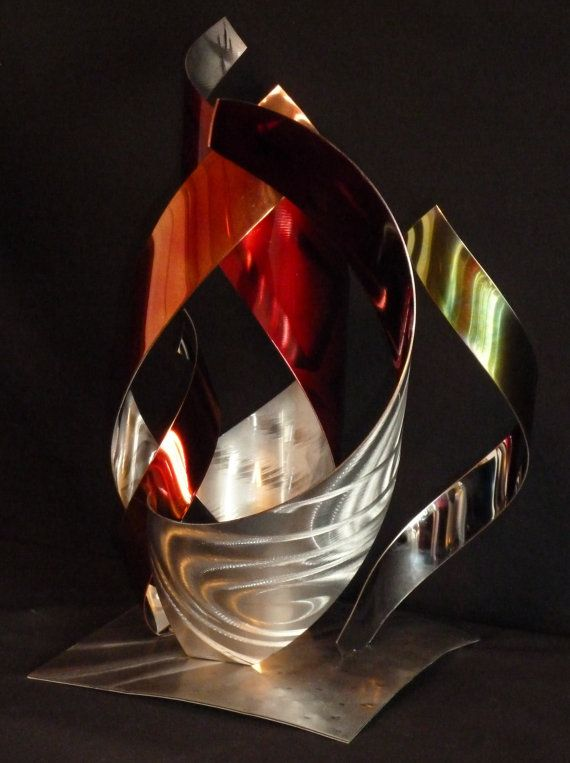 Abstract Metal Art Sculpture By Dennis Boyd By Dennisboyddesigns 189 00 Metal Art Sculpture Metal Art Sculpture