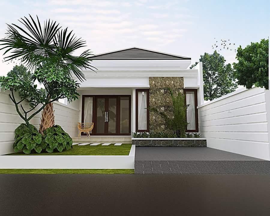 Rumah Minimalis Sederhana 1 Lantai Dengan Teras Rumah Dari Batu Alam Dekorasi Minimalis Rumah Minimalis Desain Rumah