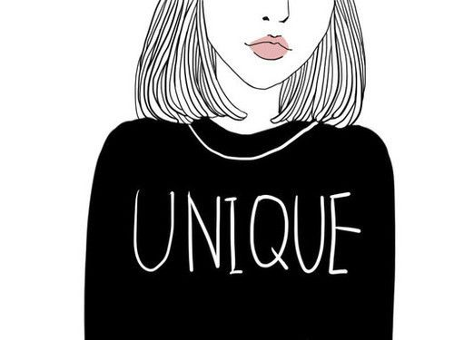 Art Black And White Drawing Girl Hair Outline Tumblr Unique
