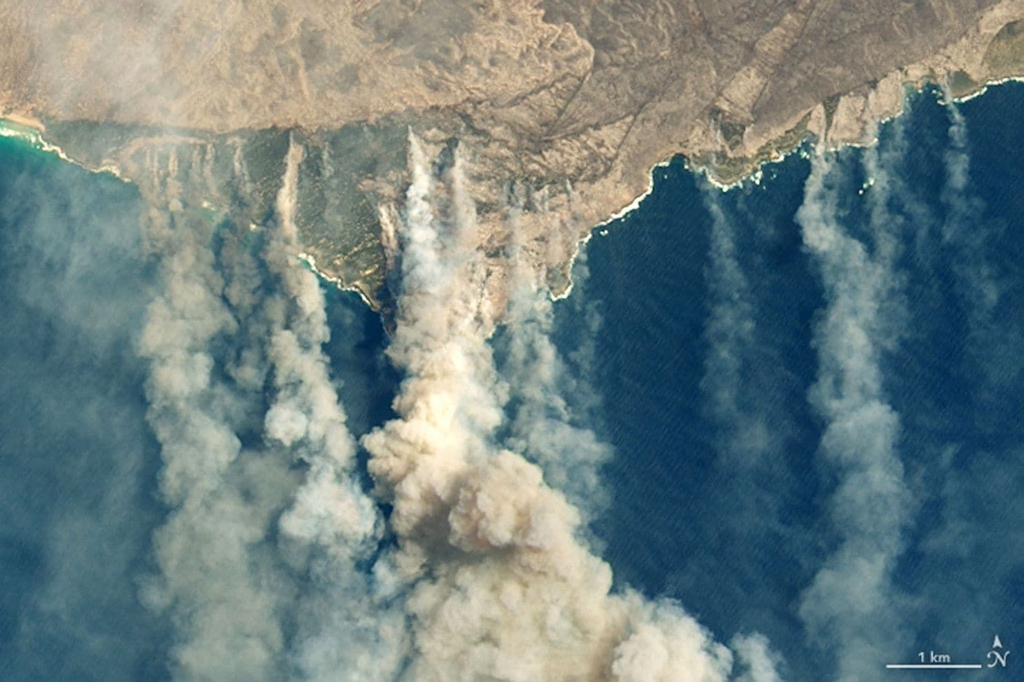 A 'megafire' measuring 1.5 million acres forms in