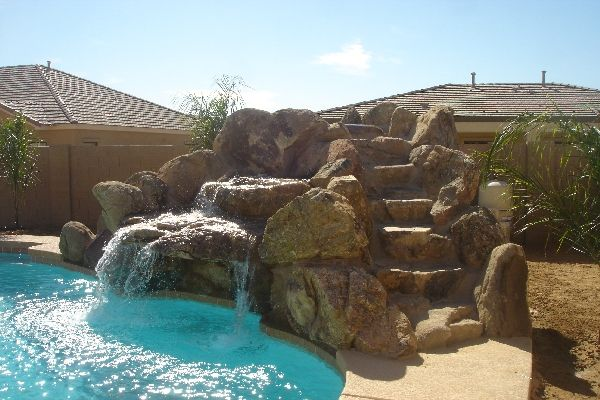 Phoenix AZ Pool Builders Rock/ Grotto/ Slide | Rock/ Grotto/ Slide ...