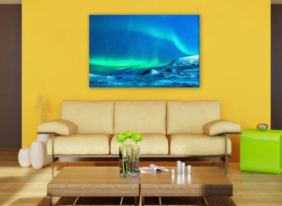Aurora Borealis Wall Art Canvas Print 3 Panel Northern